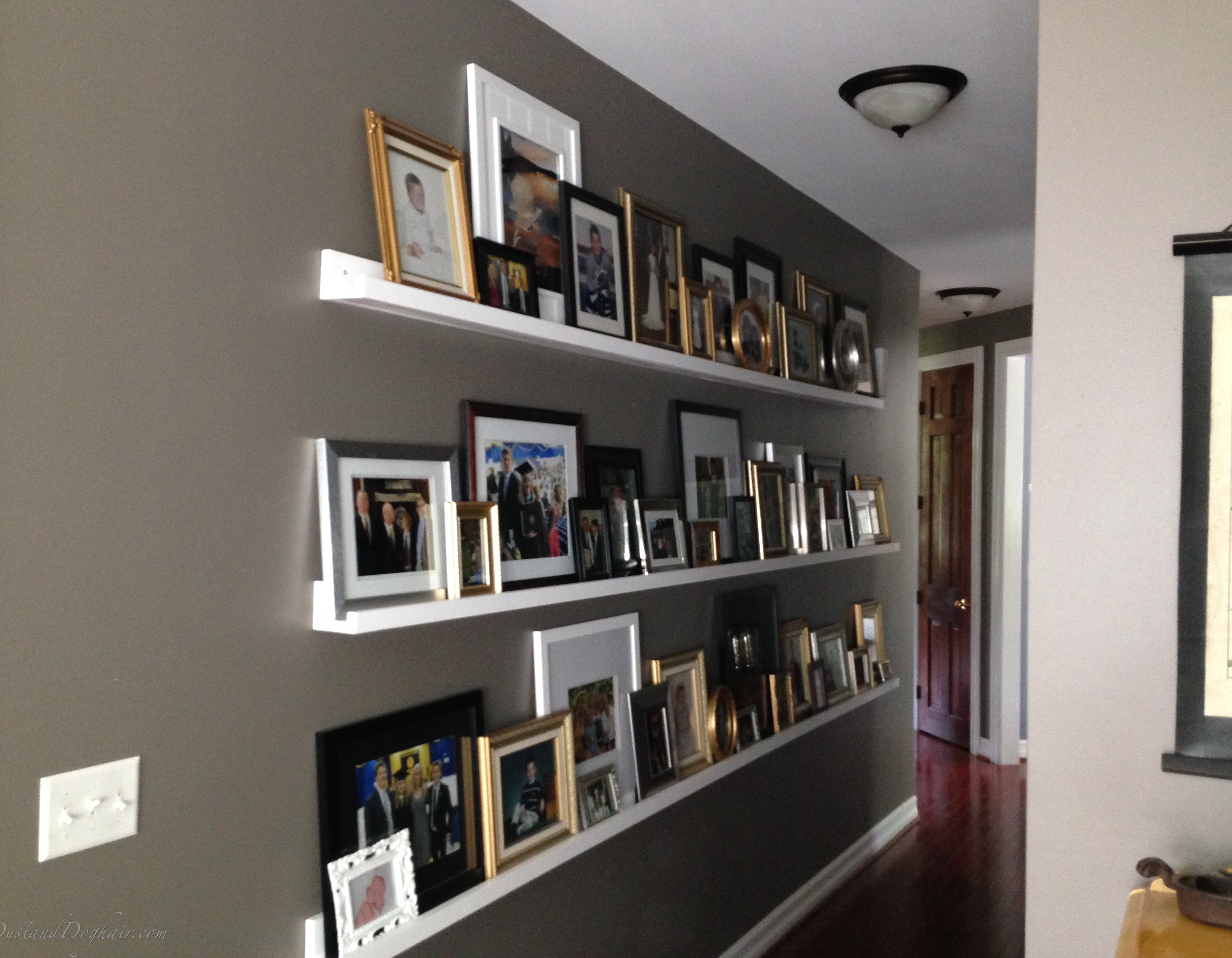 gallery wall for a long hallway. Black Bedroom Furniture Sets. Home Design Ideas